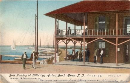 Boat Landing at Little Egg Harbor, Beach Haven, NJ 1906