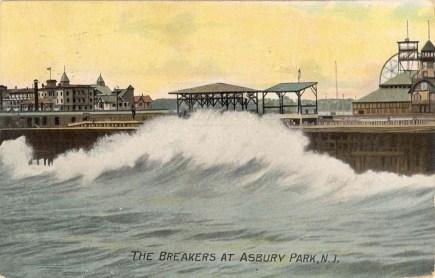 Breakers at Asbury Park, NJ 1907