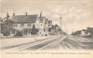 Central Avenue Above 5th Street, Ocean City, NJ 1906