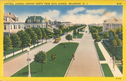 Central Avenue, Looking North from 26th Avenue, Wildwood, NJ 1951