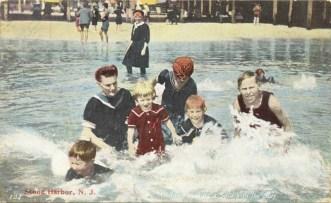 Children Make a Splash in the Surf, Stone Harbor, NJ