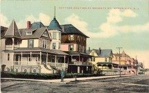 Cottage Section at Seventh Street, Ocean City, NJ 1909