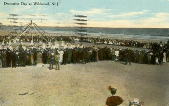 Decoration Day at Wildwood, NJ 1910