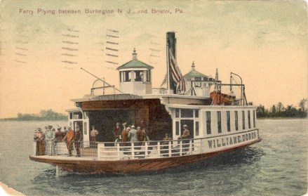 Ferry Plying Between Burlington, NJ and Bristol, Pa. 1907