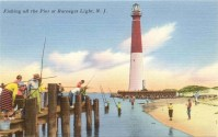 Fishing Off the Pier at Barnegat Light, NJ