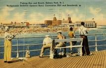 Fishing Pier and Beach, Asbury Park, NJ,