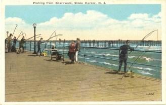 Fishing from Boardwalk, Stone Harbor, NJ