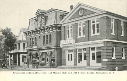 Greenewald Bldg., and Odd Fellows Temple, Moorestown, NJ