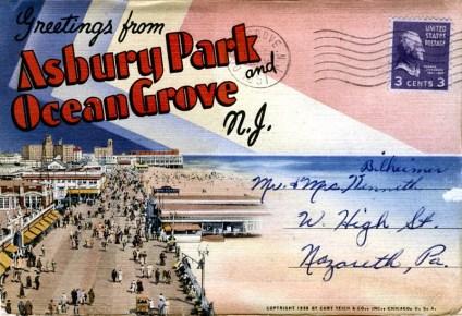 Greetings from Asbury Park and Ocean Grove, NJ