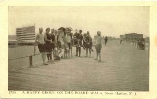 Happy Group on the Boardwalk, Stone Harbor, NJ