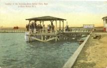 Landing of the Anglesea-Stone Harbor Ferry Boat at Stone Harbor, NJ