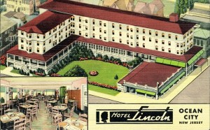 Lincoln Hotel and Restaurant, 9th & Wesley, Ocean City, NJ 1954