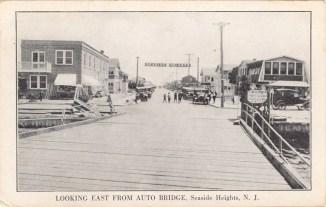 Looking east from Auto Bridge, Seaside Heights, NJ 1923