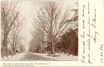 Main Street Looking East, Moorestown, NJ 1906
