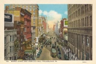 Market Street East from City Hall, Philadelphia, PA