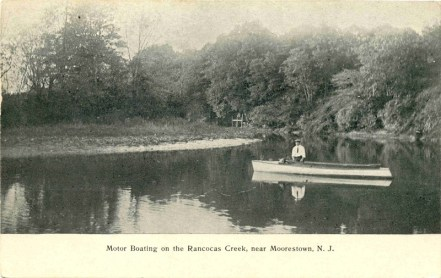 Motor Boating on the Rancocas Creek Near Moorestown, NJ