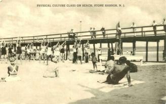 Physical Culture Class on Beach, Stone Harbor, NJ