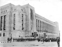 Postmen help dedicate Philadelphia's new Post Office, May 25, 1935