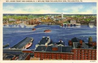 Riverfront and Camden, NJ Skyline from Philadelphia Side 1938