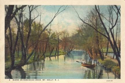 Scene on Rancocas Creek, Mt Holly 1930