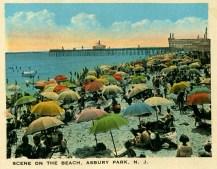 Scene on the Beach, Asbury Park, NJ