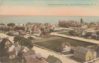 Sectional Bird's-Eye View of Beach Haven, NJ