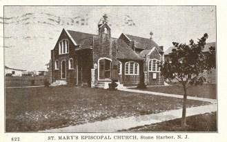 St. Mary's Episcopal Church, Stone Harbor, N.J., postmark Aug 26, 1933