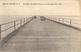 Two-Mile Automobile Bridge Over Little Egg Harbor Bay, Beach Haven, NJ