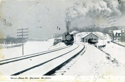 Valley Forge, PA Rounding the Curve 1907