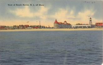 View of Beach Haven, NJ Off Shore 1941