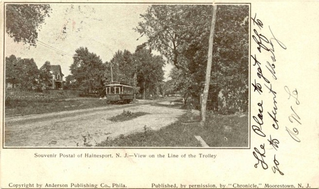 View on the Line of the Trolley, Hainesport, NJ