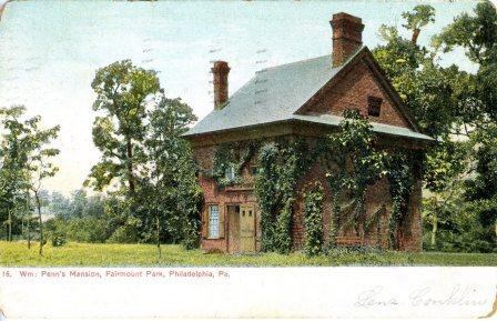 William Penn's Mansion, Fairmount Park, Philadelphia, PA 1907