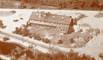 Aerial View Log Cabin Lodge, Medford Lakes, NJ