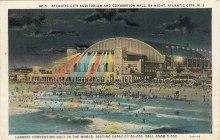 Atlantic City Auditorium and Convention Hall by Night, Atlantic City, NJ 1931