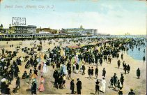Beach Scene, Atlantic City, NJ 1909