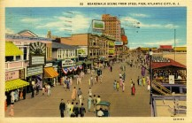 Boardwalk Scene from Steel Pier, Atlantic City, NJ