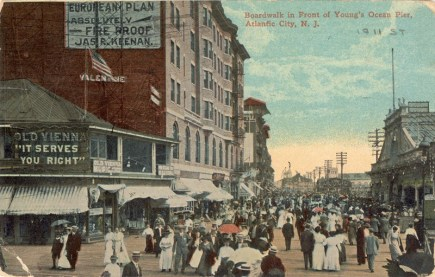 Boardwalk in Front of Young's Ocean Pier, Atlantic City, NJ 1911