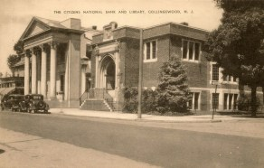 Citizens National Bank and Library, Collingswood, NJ