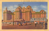 Hotel Traymore and Boardwalk, Atlantic City, NJ 1944