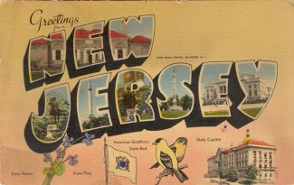 Large Letter Greetings from New Jersey 1940