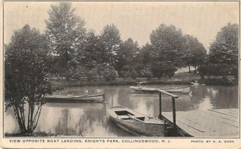 View Opposite Boat Landing, Knight's Park, Collingswood, NJ