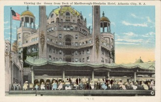 Viewing the Ocean from the Deck of Marlborough-Blenheim Hotel, Atlantic City, NJ 1918