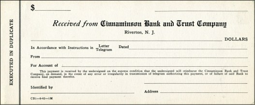 Cinnaminson Bank form