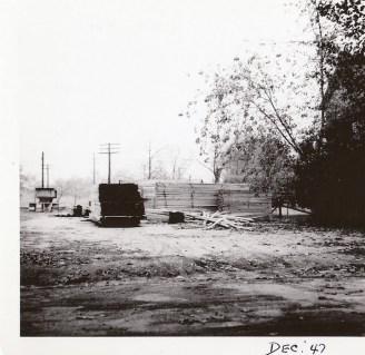 036_1947 Dec JT Evans lumberyard - J.F. Yearly photo
