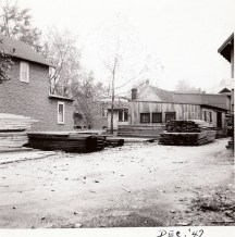 040_1947 Dec - house on left was owned by JT Evans and rented to Jos. F. Yearly at the time - J.F. Yearly photo