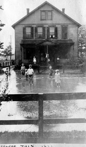 1921, July shower floods Cinnaminson St