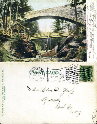 Philadelphia, Devil's Pool, Wissahickon 1906 both sides