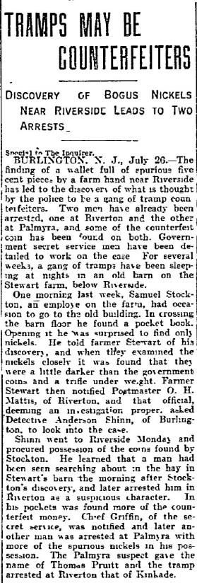 Philadelphia Inquirer, July 27, 1904