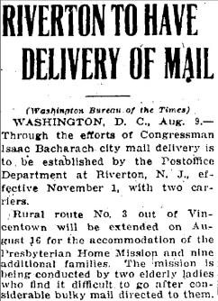 Trenton Evening Times, Aug. 9, 1922