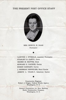 1940 July 4, dedication of Post Office booklet pg4